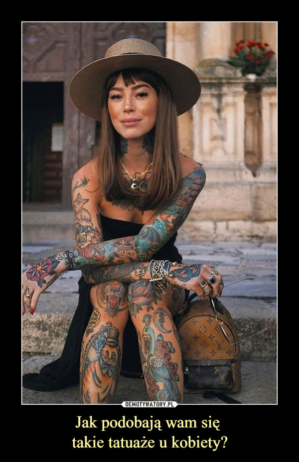Jak podobają wam się takie tatuaże u kobiety? –