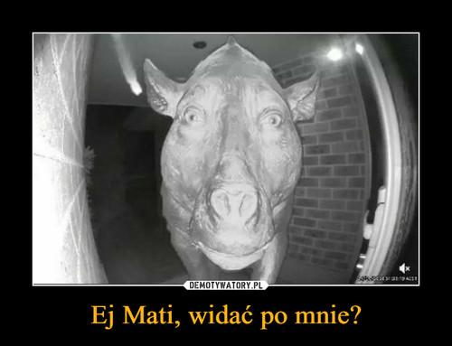 Ej Mati, widać po mnie?