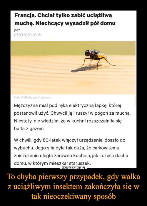 To chyba pierwszy przypadek, gdy walka z uciążliwym insektem zakończyła się w tak nieoczekiwany sposób