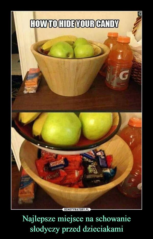 Najlepsze miejsce na schowanie słodyczy przed dzieciakami –