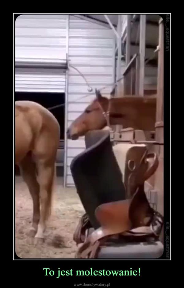 To jest molestowanie! –