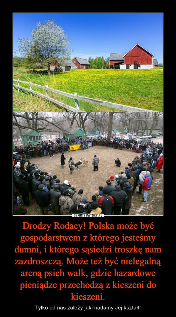 Drodzy Rodacy! Polska może być gospodarstwem z którego jesteśmy dumni, i którego sąsiedzi troszkę nam zazdroszczą. Może też być nielegalną areną psich walk, gdzie hazardowe pieniądze przechodzą z kieszeni do kieszeni. – Tylko od nas zależy jaki nadamy Jej kształt!