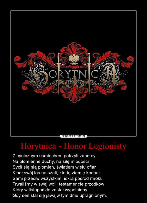 Horytnica - Honor Legionisty