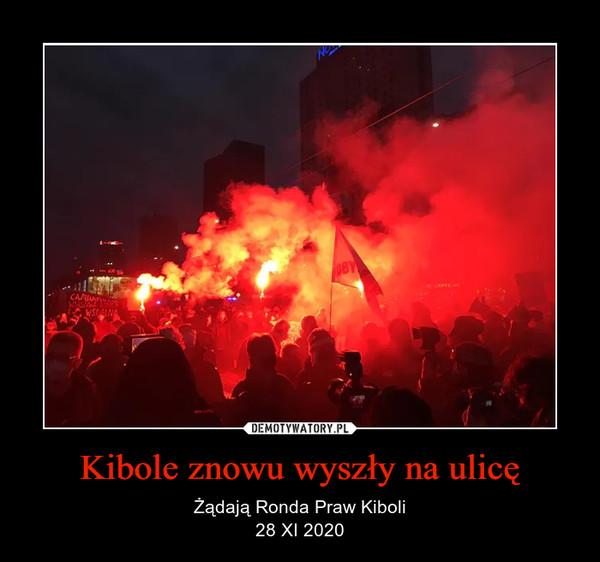Kibole znowu wyszły na ulicę – Żądają Ronda Praw Kiboli28 XI 2020