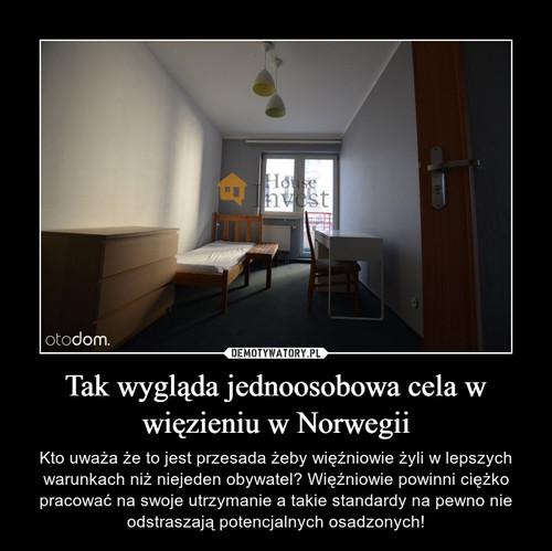 Tak wygląda jednoosobowa cela w więzieniu w Norwegii