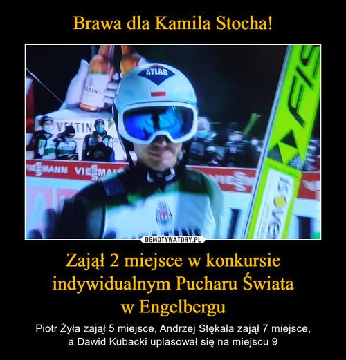 Brawa dla Kamila Stocha! Zajął 2 miejsce w konkursie indywidualnym Pucharu Świata w Engelbergu