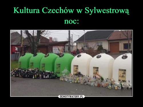 Kultura Czechów w Sylwestrową noc: