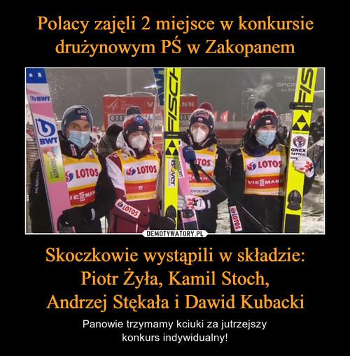 Polacy zajęli 2 miejsce w konkursie drużynowym PŚ w Zakopanem Skoczkowie wystąpili w składzie: Piotr Żyła, Kamil Stoch, Andrzej Stękała i Dawid Kubacki