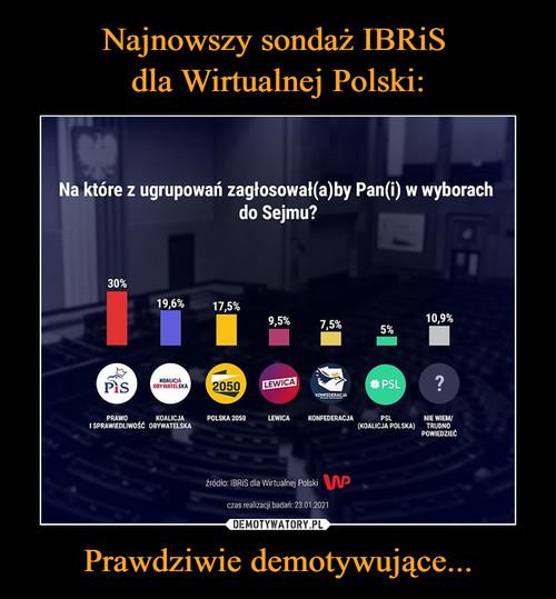 Najnowszy sondaż IBRiS  dla Wirtualnej Polski: Prawdziwie demotywujące...