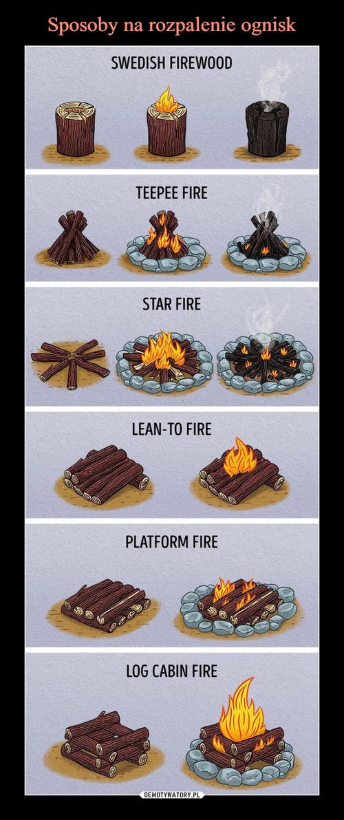 Sposoby na rozpalenie ognisk