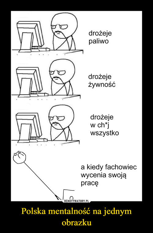 Polska mentalność na jednym obrazku