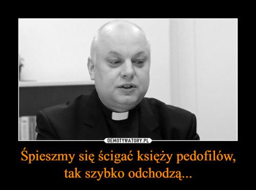 Śpieszmy się ścigać księży pedofilów, tak szybko odchodzą...