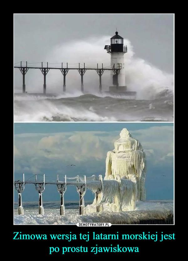 Zimowa wersja tej latarni morskiej jest po prostu zjawiskowa –