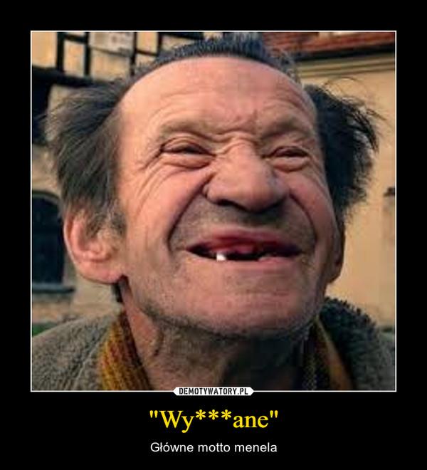 """""""Wy***ane"""" – Główne motto menela"""