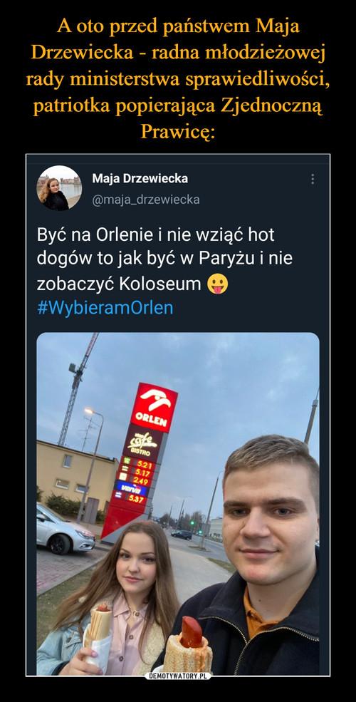A oto przed państwem Maja Drzewiecka - radna młodzieżowej rady ministerstwa sprawiedliwości, patriotka popierająca Zjednoczną Prawicę: