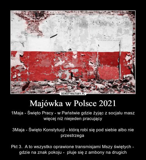 Majówka w Polsce 2021