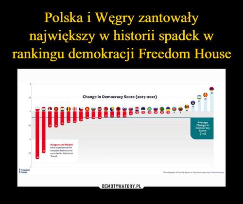 Polska i Węgry zantowały największy w historii spadek w rankingu demokracji Freedom House