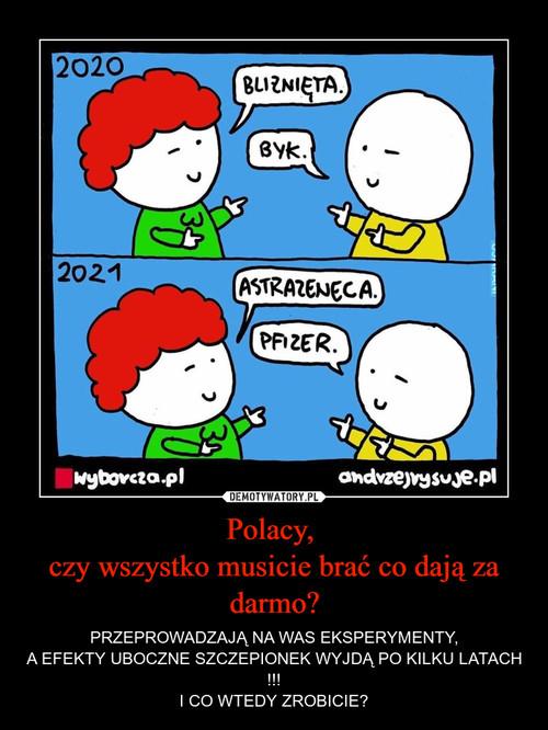 Polacy,  czy wszystko musicie brać co dają za darmo?