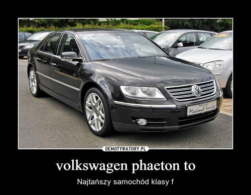 volkswagen phaeton to
