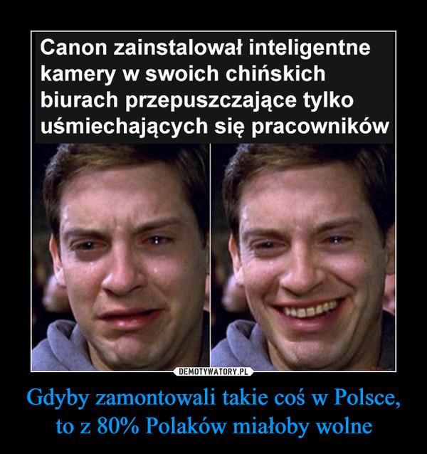Gdyby zamontowali takie coś w Polsce, to z 80% Polaków miałoby wolne