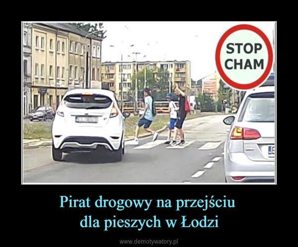 Pirat drogowy na przejściu dla pieszych w Łodzi –