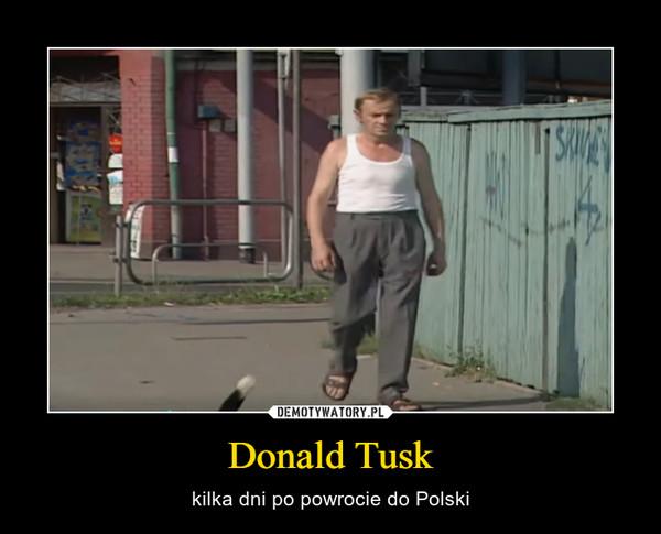 Donald Tusk – kilka dni po powrocie do Polski