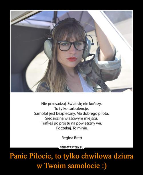 Panie Pilocie, to tylko chwilowa dziura w Twoim samolocie :)