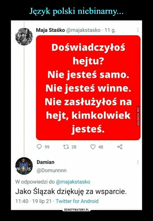 Język polski niebinarny...