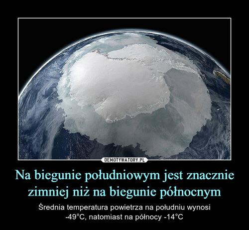 Na biegunie południowym jest znacznie zimniej niż na biegunie północnym