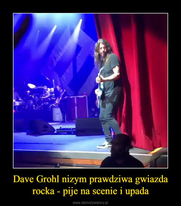 Dave Grohl nizym prawdziwa gwiazda rocka - pije na scenie i upada –