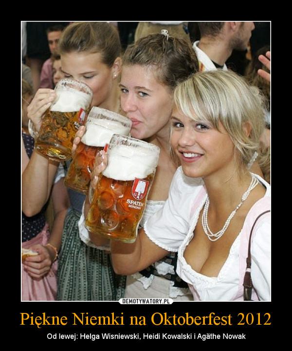 Piękne Niemki na Oktoberfest 2012