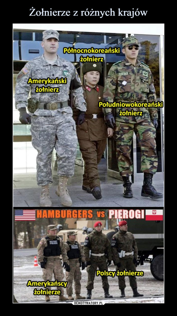 Żołnierze z różnych krajów